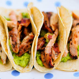 Beer-Marinated Chicken Tacos.
