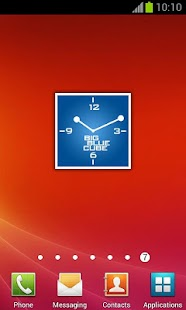 Blue Square Clock + alarm - screenshot thumbnail