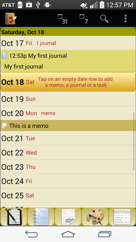 Memo Journal - screenshot