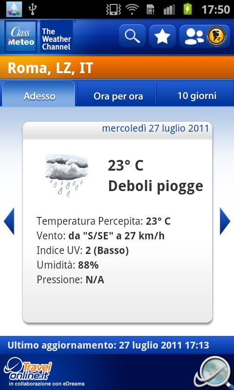 Class Meteo - Weather Channel - screenshot