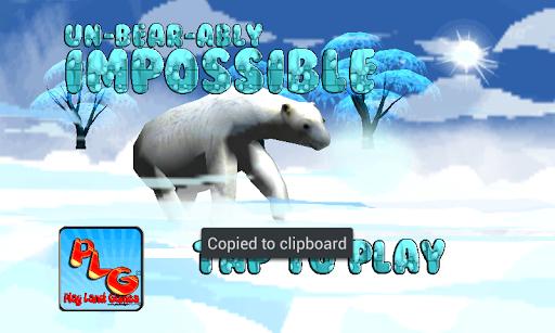 Un Bear Ably Impossible run