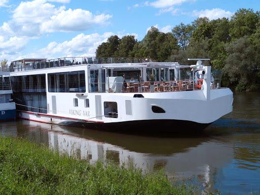 Viking-Var-Regensburg-Germany - The river cruise ship Viking Var near Regensburg, Germany.