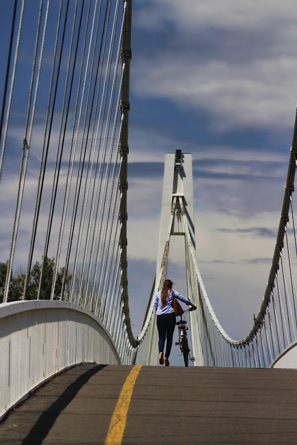 Osijek by Zoran Photography - Buildings & Architecture Bridges & Suspended Structures ( woman, bridge )
