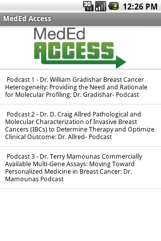 MedEd Access - screenshot