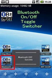 Bluetooth On/Off Toggle App. - screenshot thumbnail