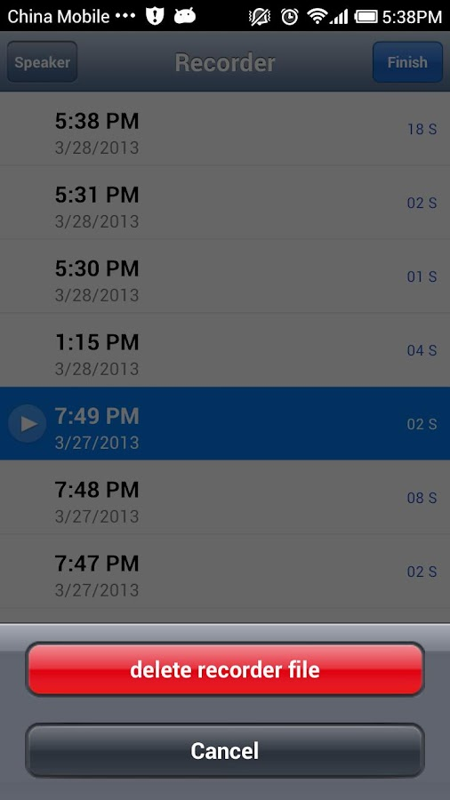 Hi Voice Memos - screenshot