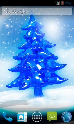 Snowy Christmas Tree HD