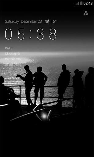 흑백 사진 도돌 락커 테마