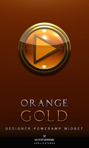 Poweramp Widget Orange Gold