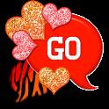 GO SMS - Hearts Fire Zebra icon