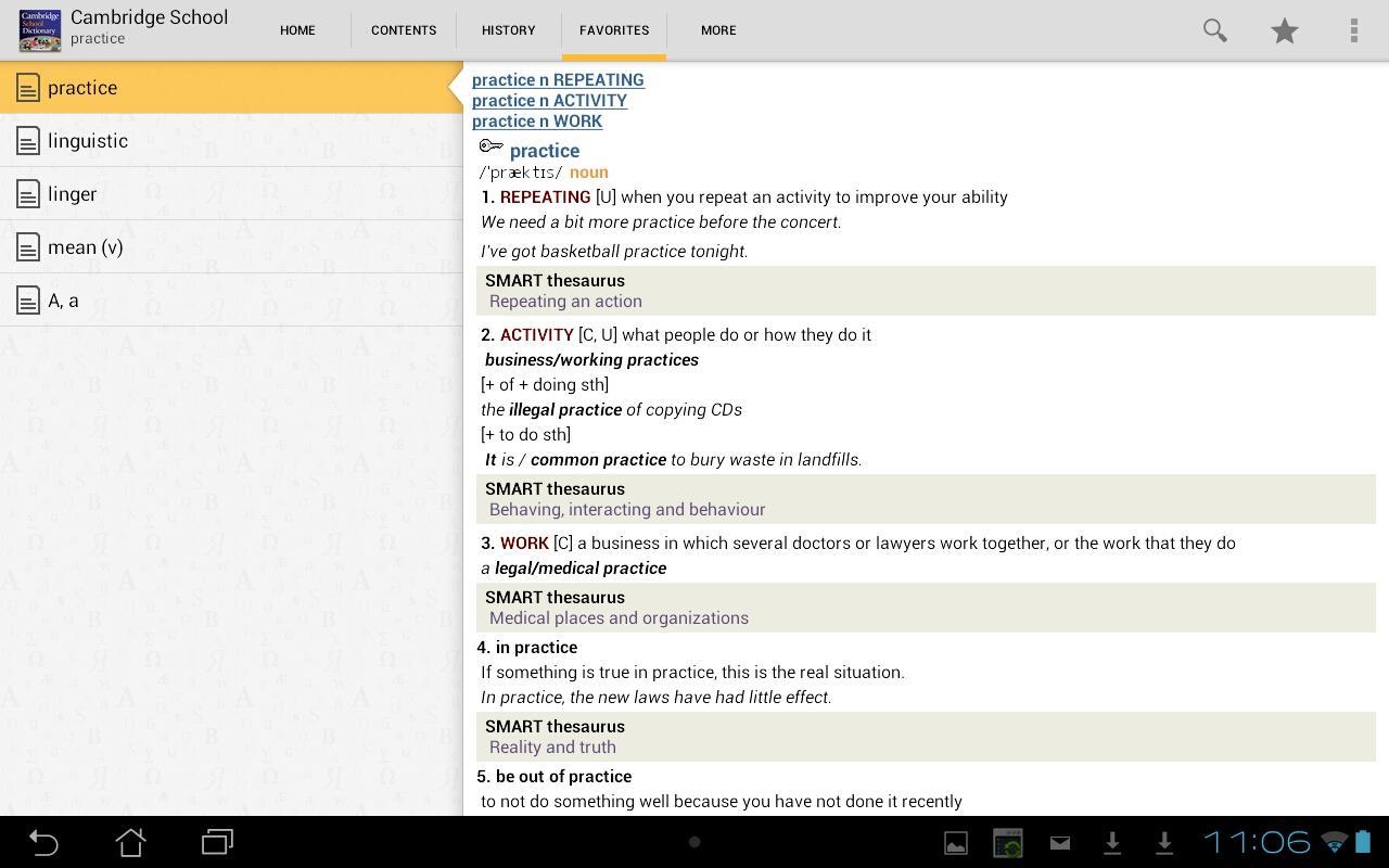 Cambridge School Dictionary TR - screenshot