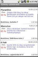 Screenshot of MOBIKA - ZlavoMapa