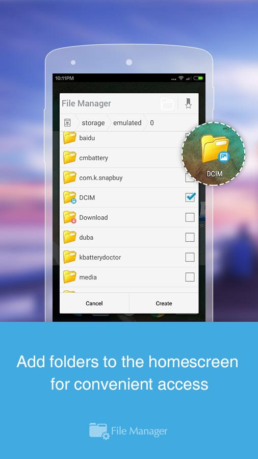 Bestandsverkenner File Manager: screenshot