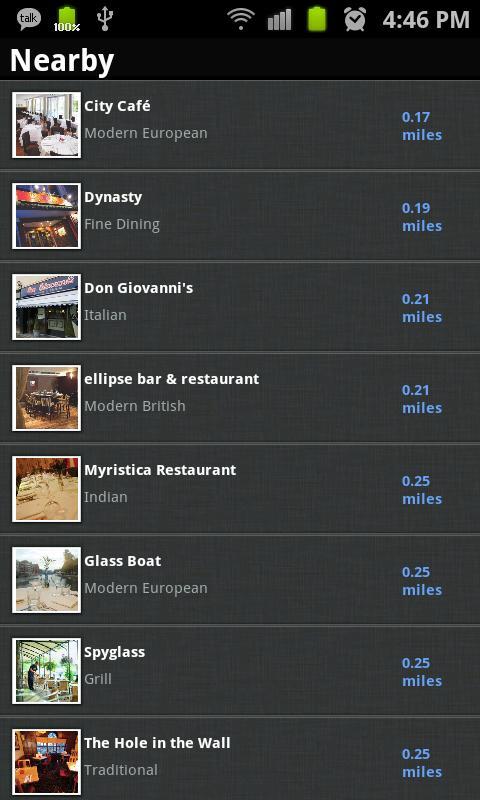 Restaurant Guide- screenshot