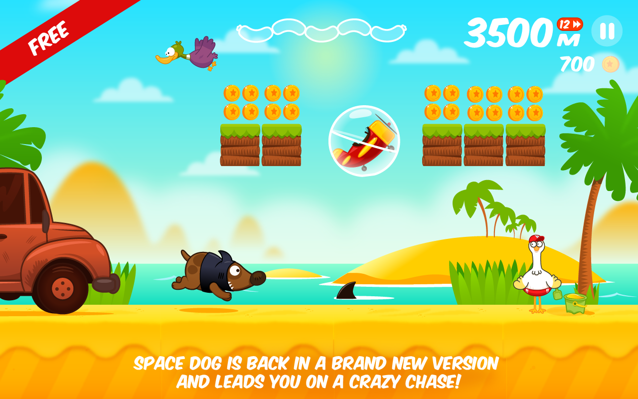 Space Dog Run - Endless Runner- screenshot
