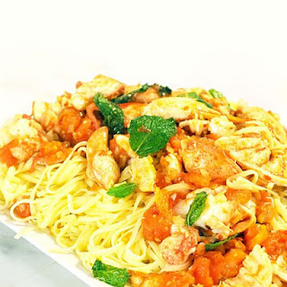 Spicy Lobster with Linguini.