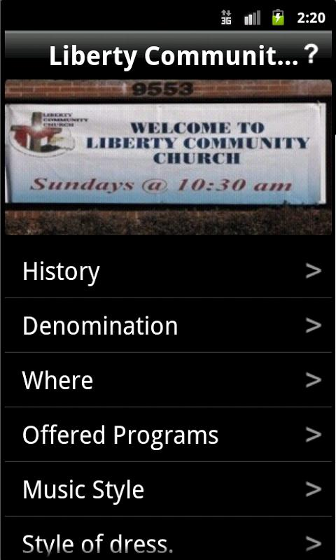 Liberty Community Church- screenshot