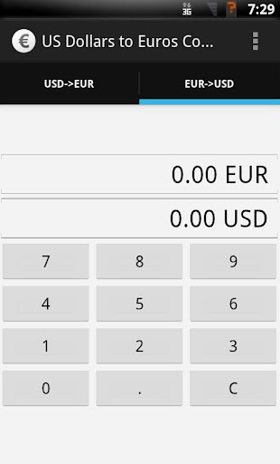 US Dollars to Euros converter