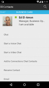 IBM Connections Chat- screenshot thumbnail