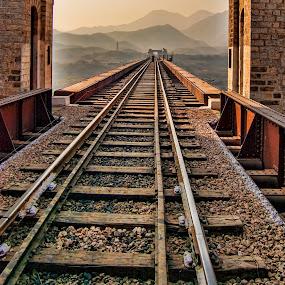 Portal by Agha Ahmed - Transportation Railway Tracks ( railroad tracks, railway, railroad, portal, door, bridge, gate )