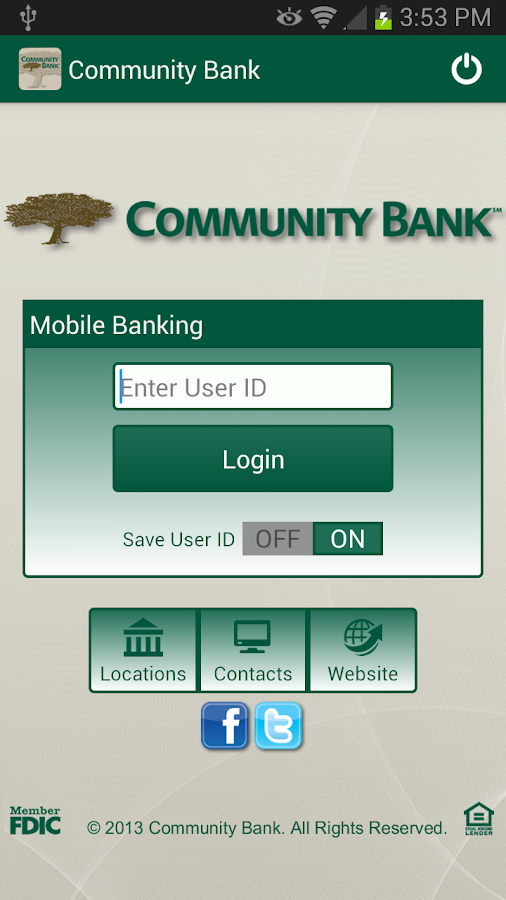 Community Bank's CellTeller - screenshot
