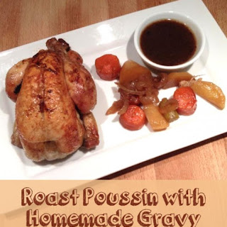 Roast Poussin with Homemade Gravy