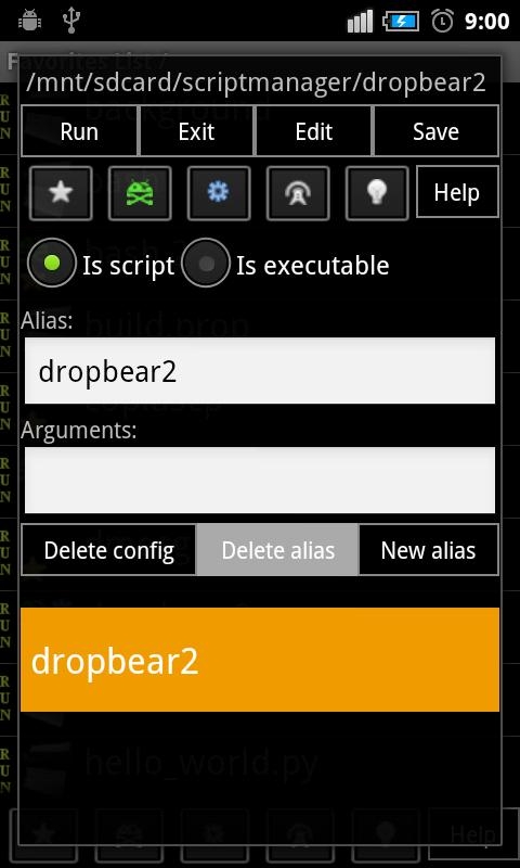 Script Manager - SManager - screenshot