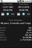 Screenshot of Now And Then - Date Calculator