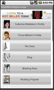Royal Wedding GossApp screenshot 0