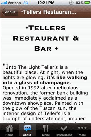 Tellers Restaurant & Bar - screenshot