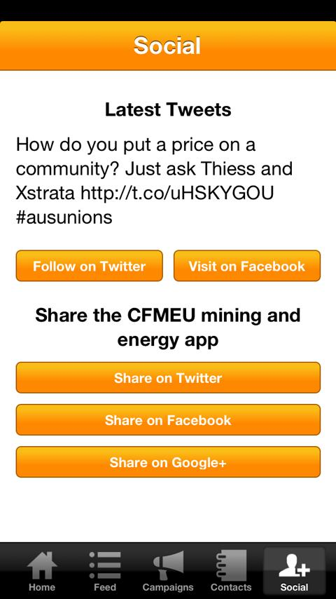 CFMEU Mining and Energy- screenshot