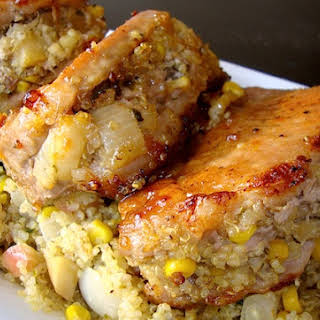 Quinoa Maple Stuffed Pork Chops.