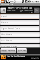 Screenshot of Credit Card Swiper