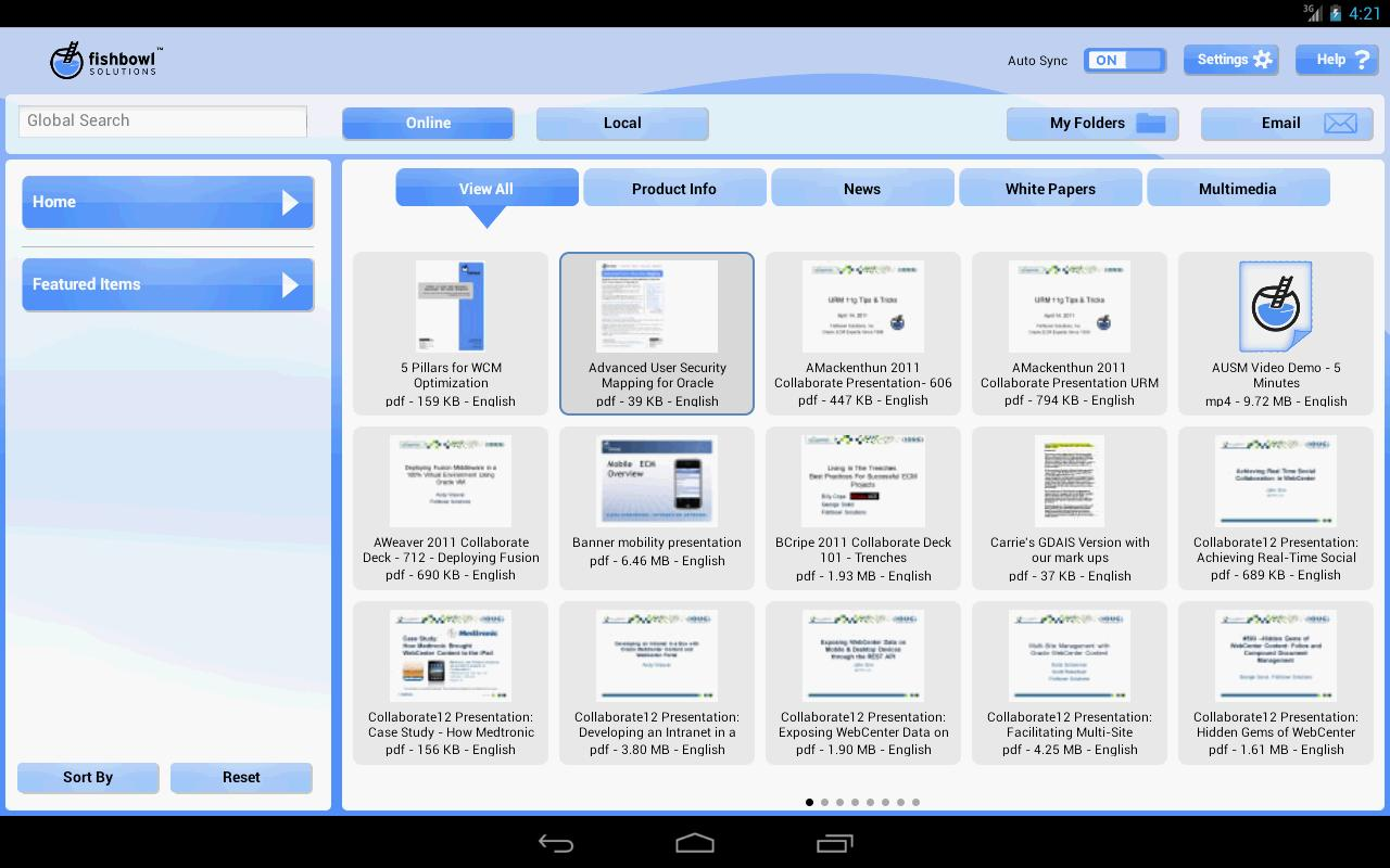Fishbowl Mobile Library - screenshot
