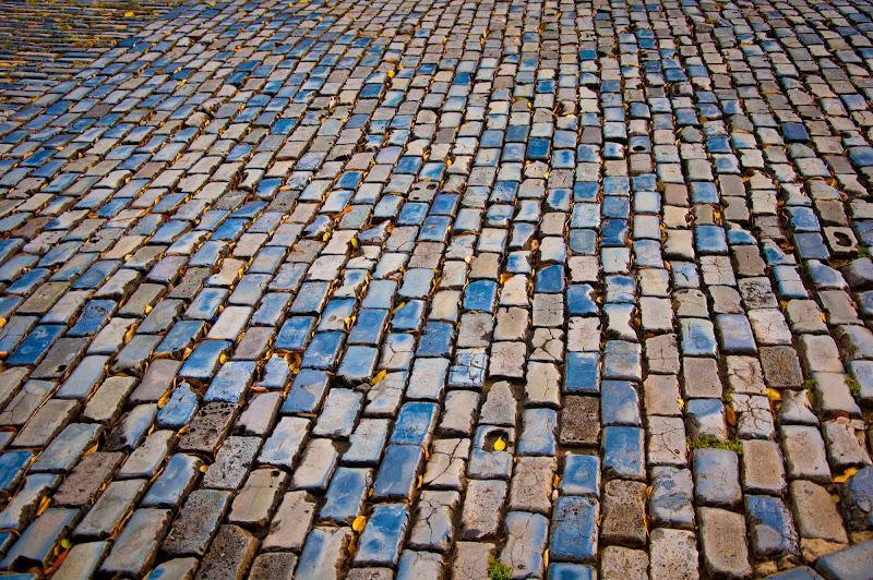 Blue Brick Roads in San Juan Viejo (Old San Juan), a World Cultural Heritage Site.