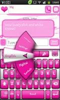 Screenshot of Go Keyboard Pink and White