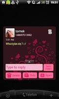 Screenshot of GO SMS Pro Emo Skull Theme