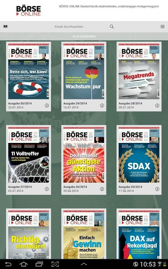 BÖRSE ONLINE E-Paper - screenshot