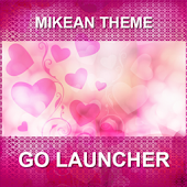 GO Launcher Pink Heart Theme +