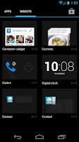 Screenshot of Contacts+ Widget