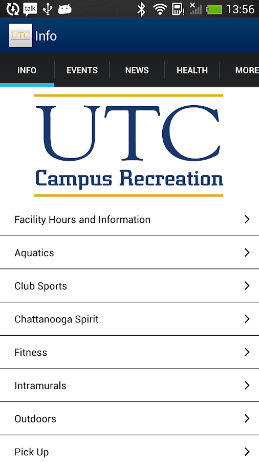 UTC Campus Rec - screenshot