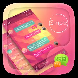 (FREE) GO SMS SIMPLE THEME