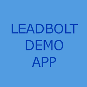 Leadbolt demo app