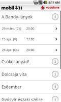 Screenshot of mobilEST programguide