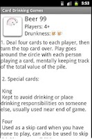 Screenshot of Card Drinking Games