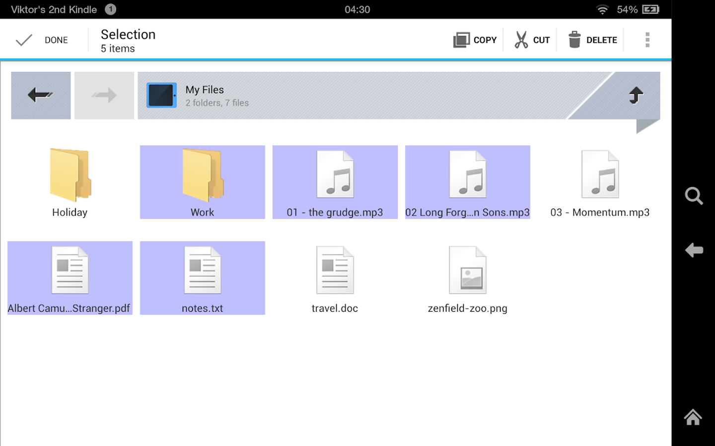 Zenfield File Manager- screenshot