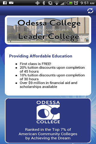 Odessa College App - screenshot