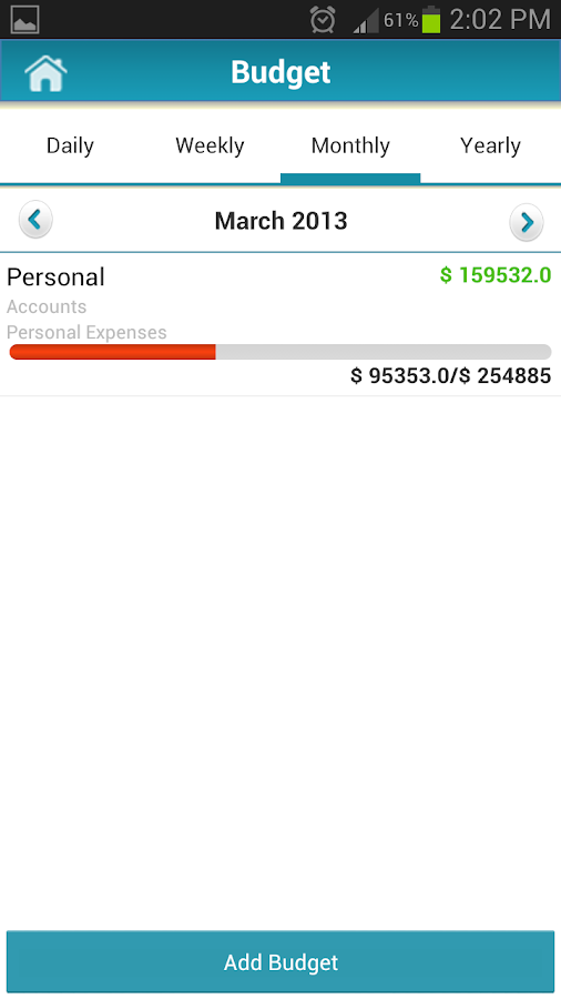 Money Tracker - Expense Budget - screenshot