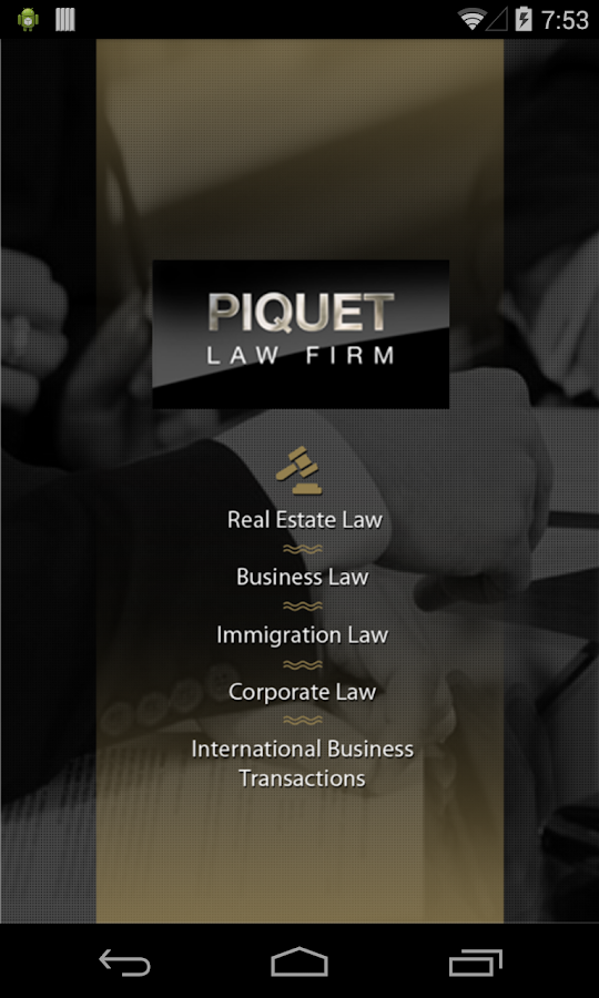 Piquet Law Firm- screenshot