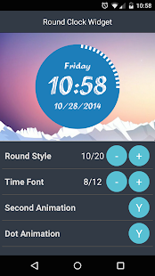 Round Clock Widget- screenshot thumbnail